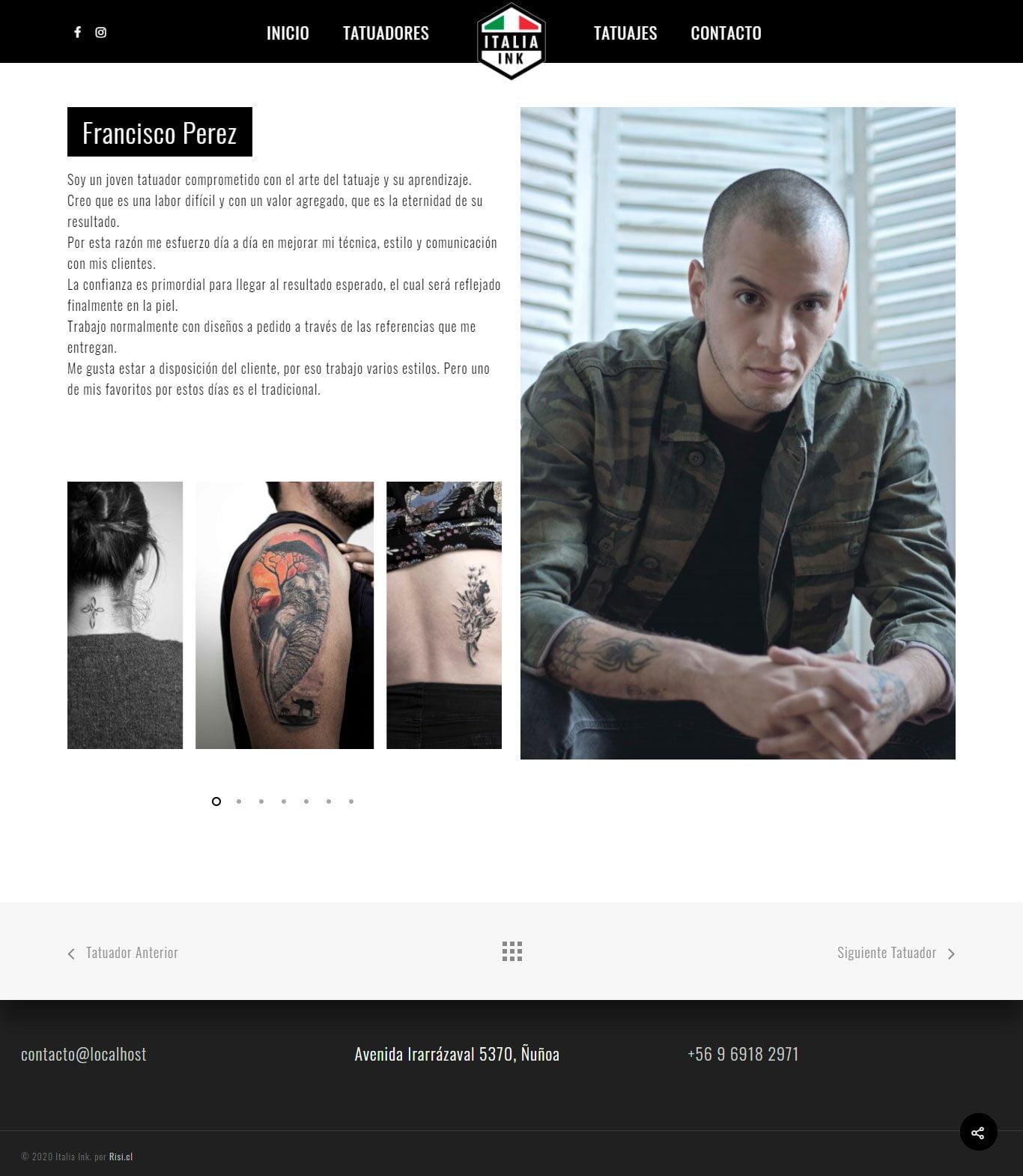 italiaink tatoo detalle