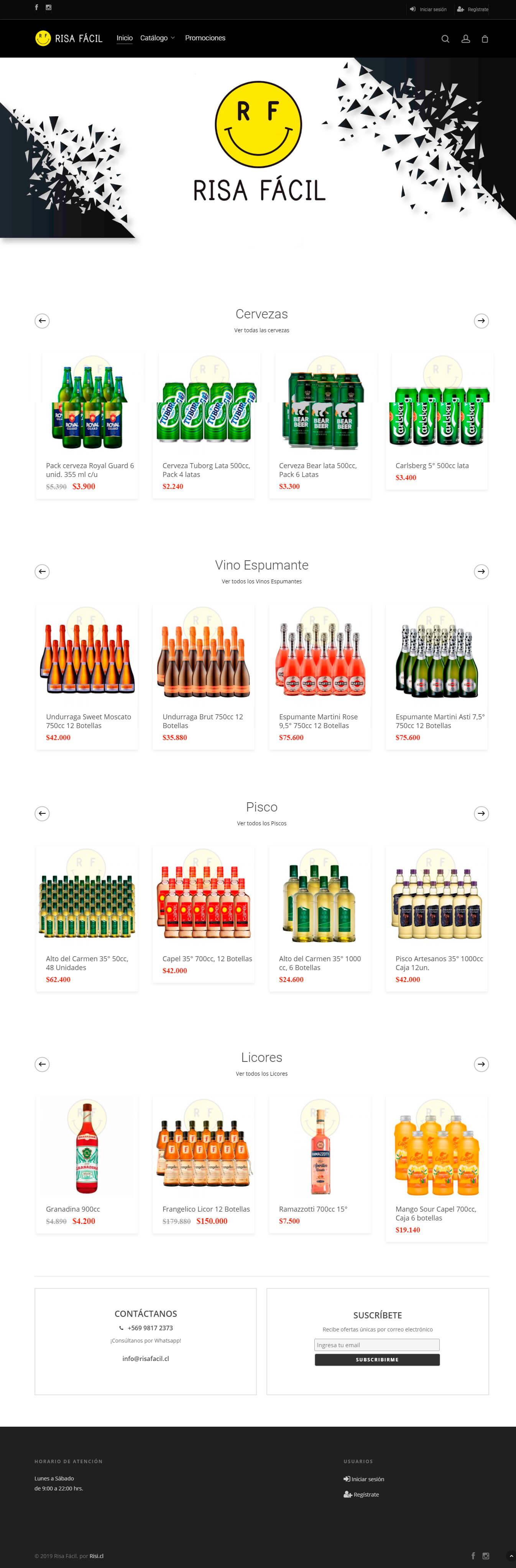 Risa Fácil - Distribuidora de licores