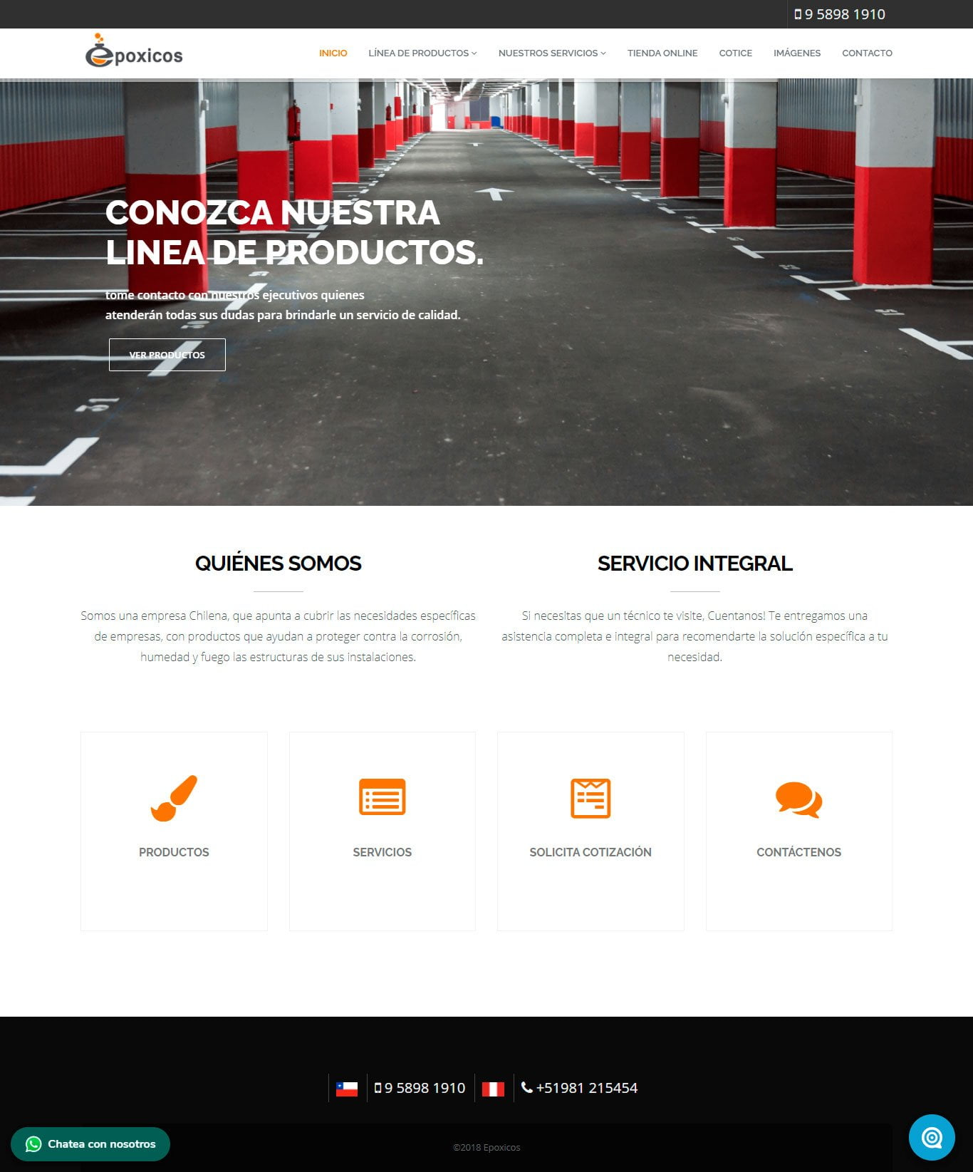 Epóxicos - Página web desarrollada por Risi.cl