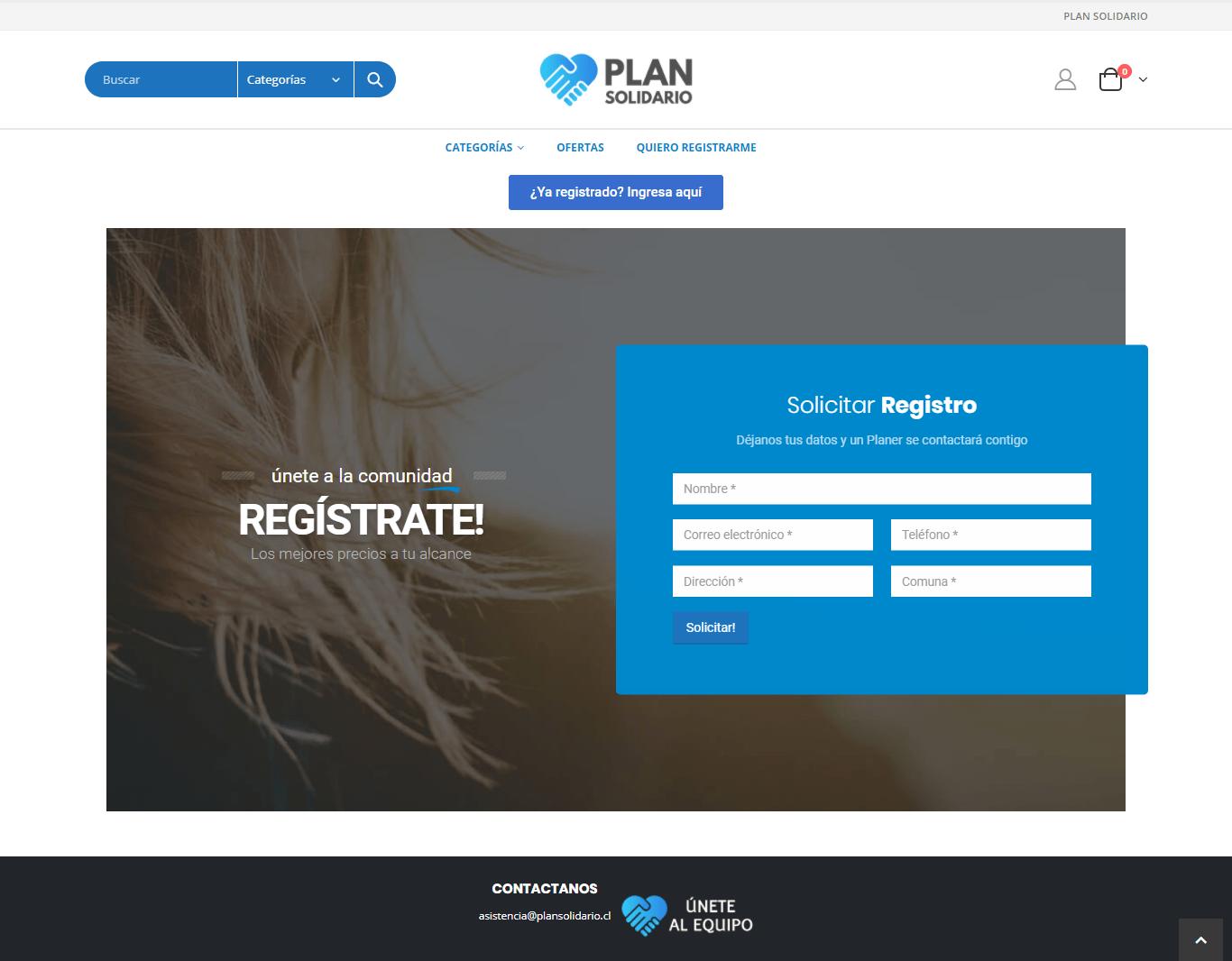 Plan Solidario - Sitio desarrollado por Risi.cl
