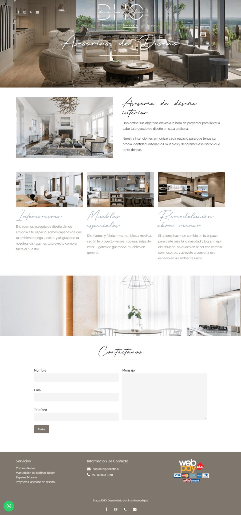 Deco Home Office - Sitio web desarrollado por Risi.cl
