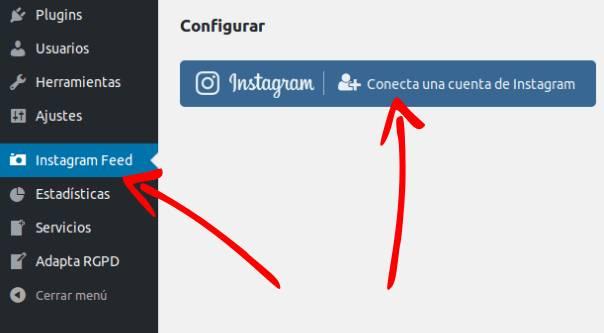 instagram feed añadir cuenta