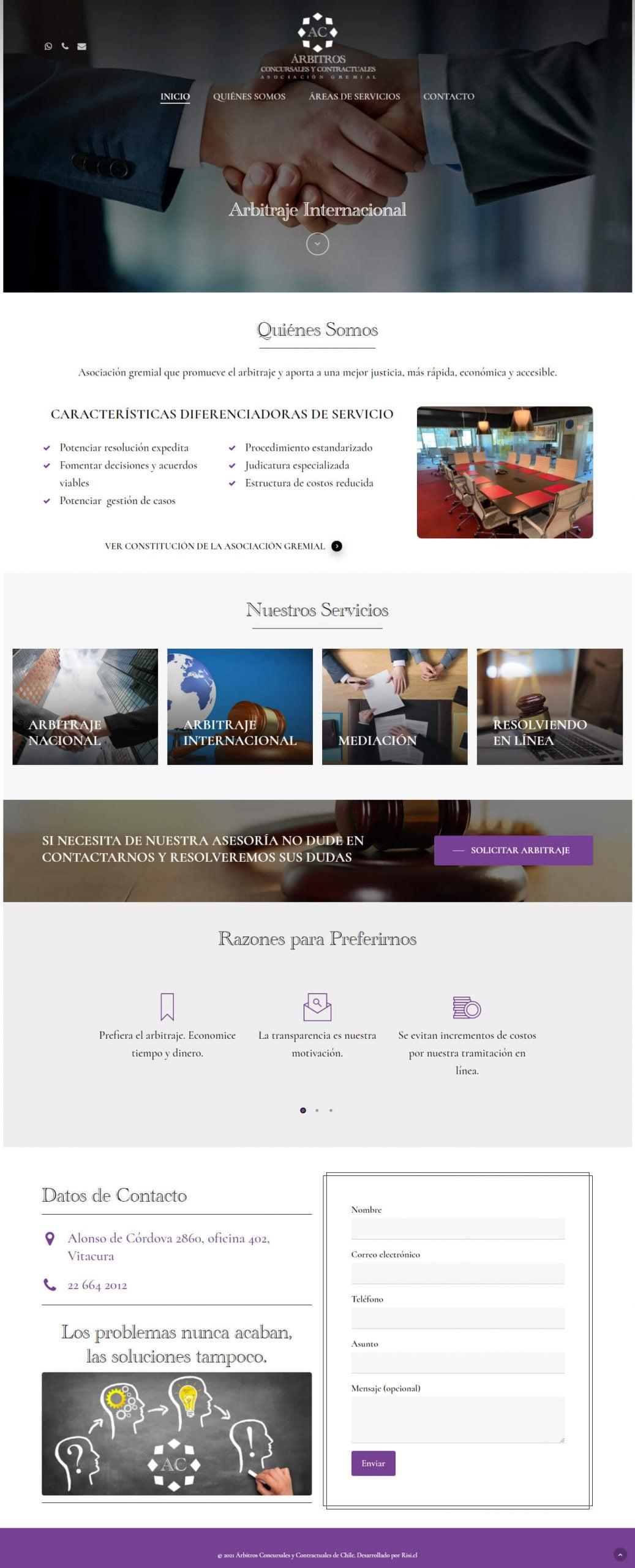Arbitros Concursales y Contractuales desarrollado por Risi.cl