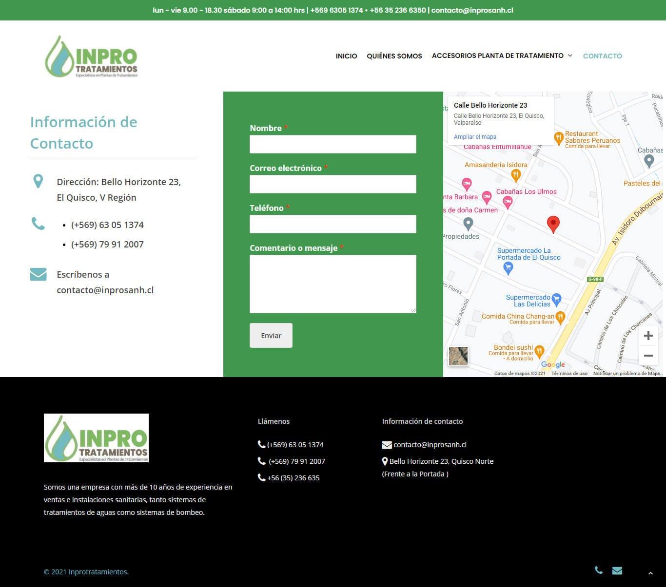 InproTratamientos - Sitio web desarrollado por Risi.cl