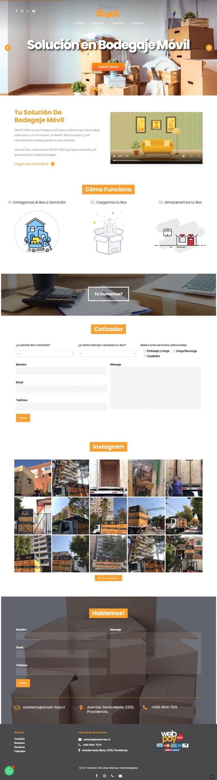 Smart-Box desarrollo de sitio web