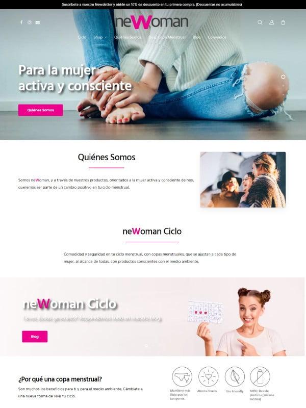 newoman sitio web desarrollado por risi