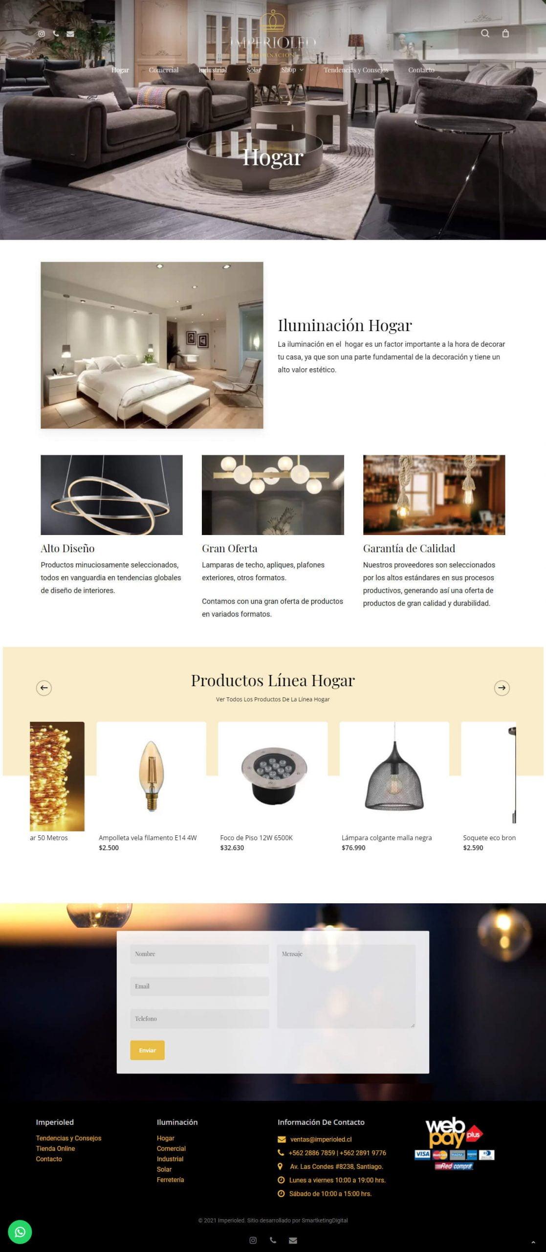 Imperioled sitio web desarrollado por Risi en conjunto con Smartketingdigital