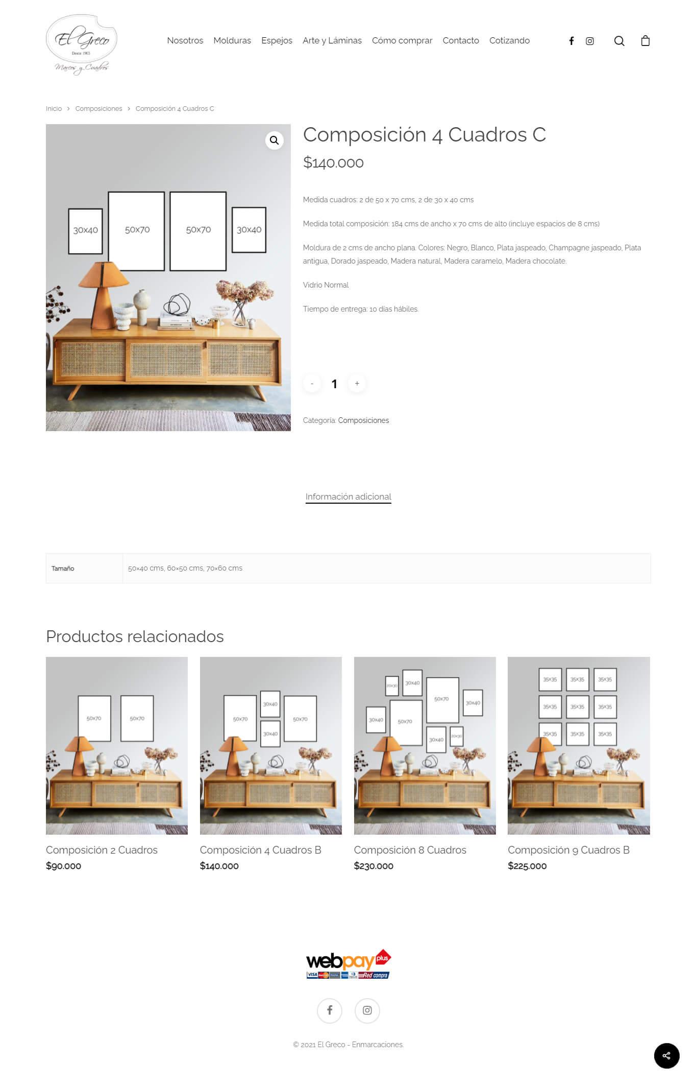 El Greco sitio web desarrollado por Risi