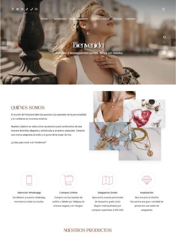 Pattyland sitio web desarrollado por Risi y Smartketing