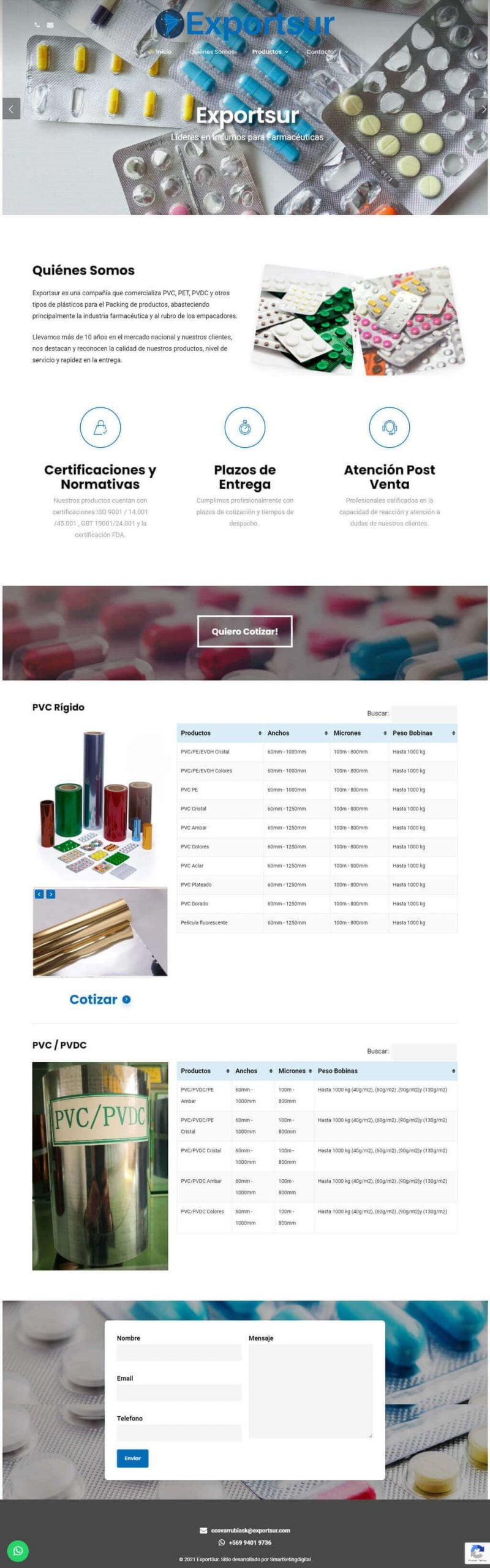 Exportsur sitio desarrollado por Risi Agencia Digital y Smartketing